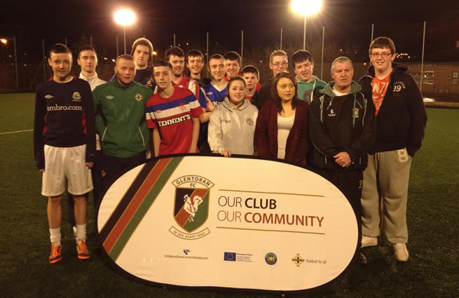 Glentoran Supports Cregagh YC and St Comgalls YC with CRED Programme
