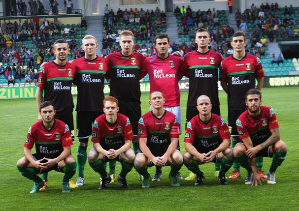 b83a6433a9 The Glentoran team which started in Zilina showed just one change from last  week s first leg  skipper Stephen McAlorum coming in to replace Jordan  Stewart.