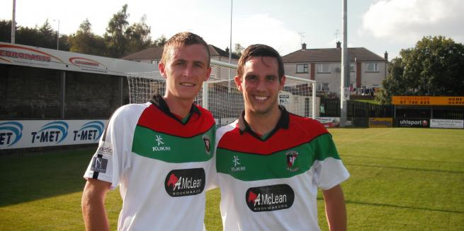 Jay Magee and Andy Waterworth; Glentoran
